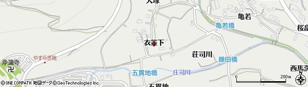 愛知県田原市田原町(衣笠下)周辺の地図