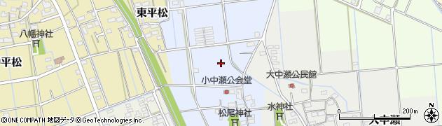 静岡県磐田市小中瀬周辺の地図