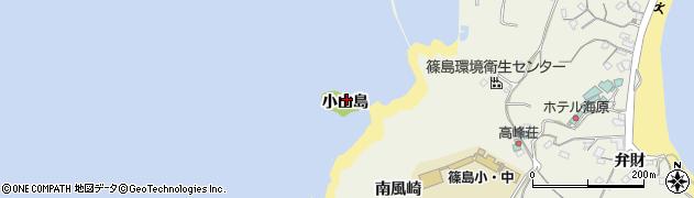 愛知県南知多町(知多郡)篠島(小山島)周辺の地図
