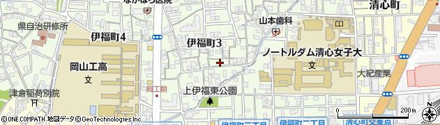 岡山県岡山市北区伊福町周辺の地図