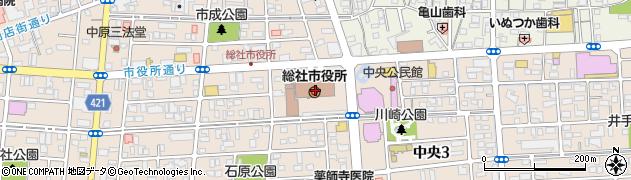 岡山県総社市周辺の地図