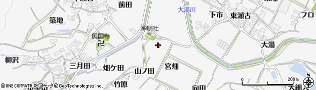 愛知県田原市仁崎町(山ノ田)周辺の地図
