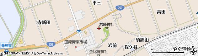 愛知県田原市谷熊町(森下)周辺の地図
