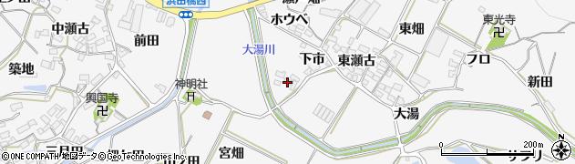 愛知県田原市仁崎町(大湯)周辺の地図