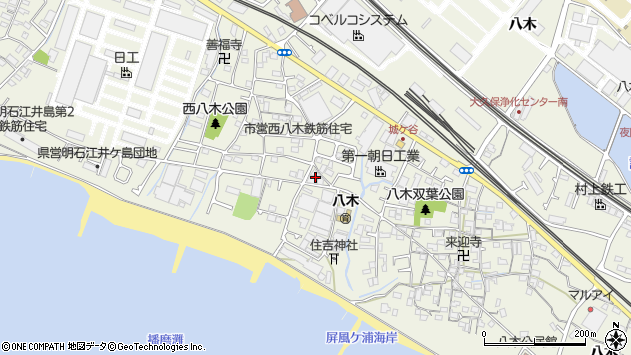 〒674-0063 兵庫県明石市大久保町八木の地図