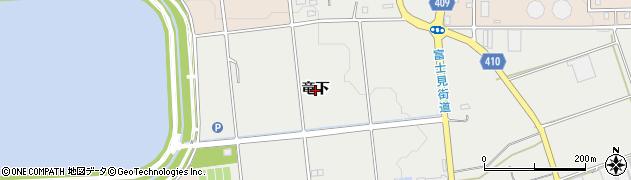 愛知県豊橋市東赤沢町(竜下)周辺の地図