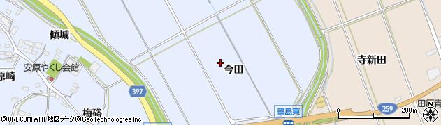 愛知県田原市豊島町(今田)周辺の地図