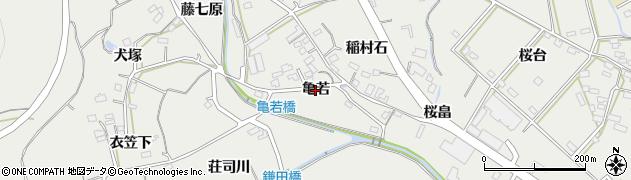 愛知県田原市田原町(亀若)周辺の地図