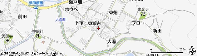 愛知県田原市仁崎町(東瀬古)周辺の地図
