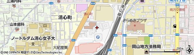 岡山県岡山市北区国体町周辺の地図
