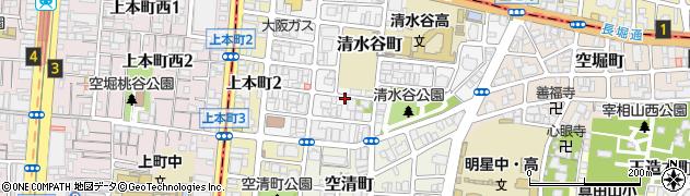大阪府大阪市天王寺区清水谷町周辺の地図