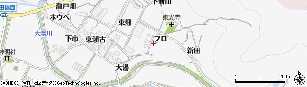 愛知県田原市仁崎町(フロ)周辺の地図