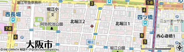 北堀江団地周辺の地図