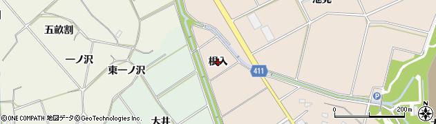 愛知県豊橋市西赤沢町(根入)周辺の地図