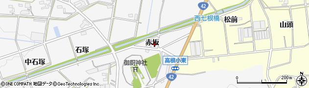 愛知県豊橋市西七根町(赤坂)周辺の地図