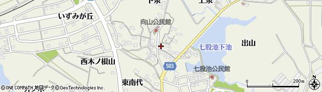 愛知県豊橋市杉山町(向山)周辺の地図