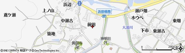 愛知県田原市仁崎町(前田)周辺の地図