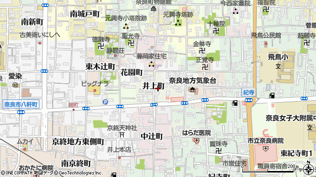 〒630-8317 奈良県奈良市井上町の地図