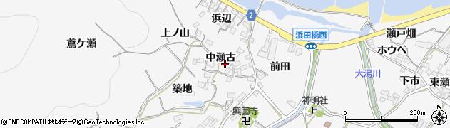 愛知県田原市仁崎町(中瀬古)周辺の地図