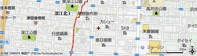 大阪府東大阪市高井田西周辺の地図