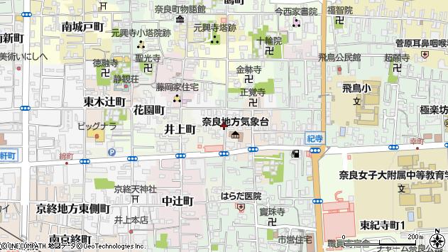〒630-8314 奈良県奈良市川之上突抜町の地図