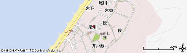愛知県田原市野田町(尾川)周辺の地図