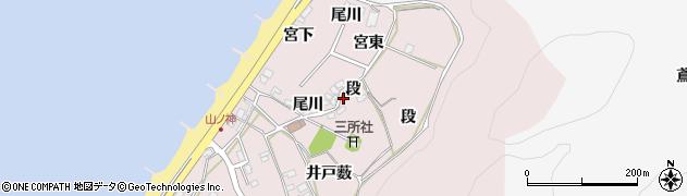 愛知県田原市野田町(段)周辺の地図