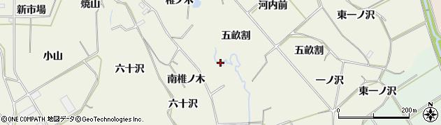 愛知県豊橋市杉山町(椎ノ木)周辺の地図