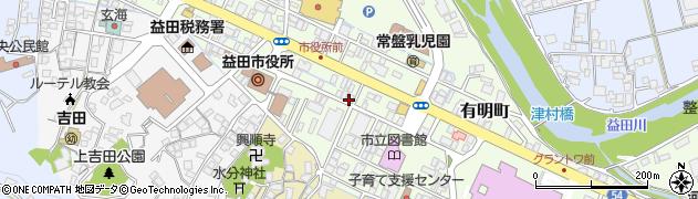 島根県益田市常盤町周辺の地図