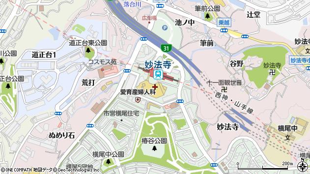 〒654-0131 兵庫県神戸市須磨区横尾の地図