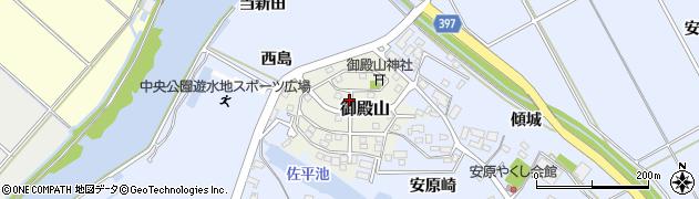 愛知県田原市御殿山周辺の地図
