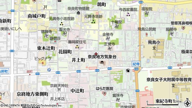 〒630-8316 奈良県奈良市築地之内町の地図
