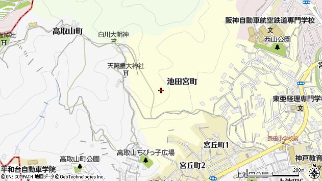 〒653-0865 兵庫県神戸市長田区池田宮町の地図