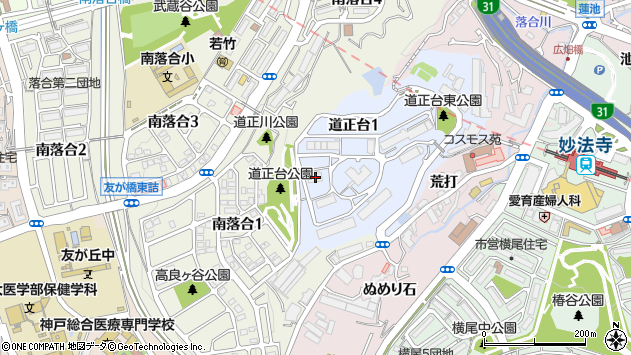 〒654-0122 兵庫県神戸市須磨区道正台の地図