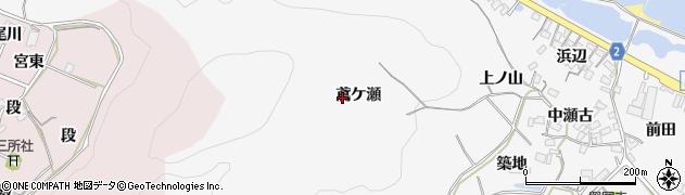 愛知県田原市仁崎町(鳶ケ瀬)周辺の地図