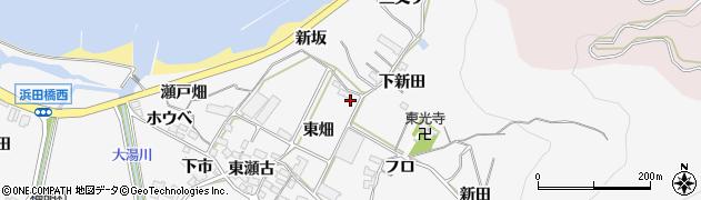 愛知県田原市仁崎町(東畑)周辺の地図