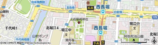 土佐稲荷神社周辺の地図