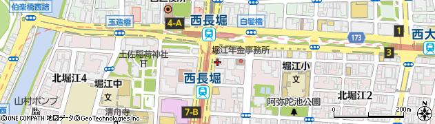 天下一品 西長堀店周辺の地図