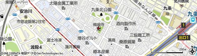 梅翁寺周辺の地図
