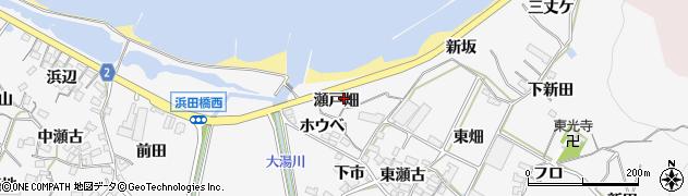 愛知県田原市仁崎町(瀬戸畑)周辺の地図