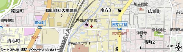 岡山県岡山市北区南方周辺の地図