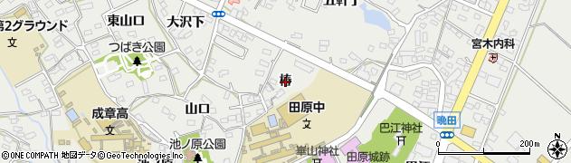 愛知県田原市田原町(椿)周辺の地図