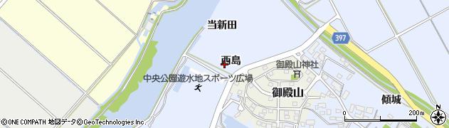 愛知県田原市豊島町(西島)周辺の地図