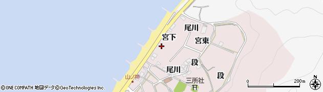愛知県田原市野田町(宮下)周辺の地図