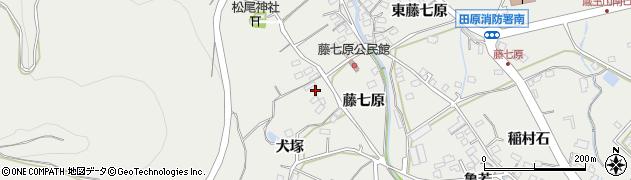 愛知県田原市田原町(藤七原)周辺の地図