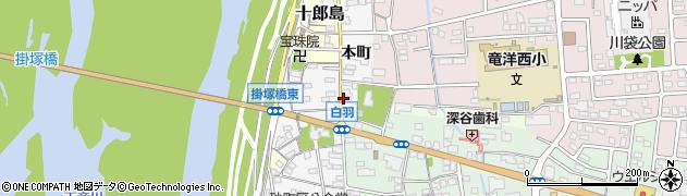 静岡県磐田市本町周辺の地図