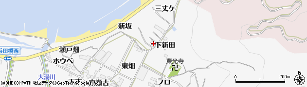 愛知県田原市仁崎町(三丈ケ)周辺の地図