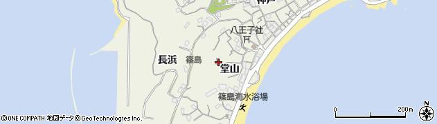 愛知県南知多町(知多郡)篠島(堂山)周辺の地図