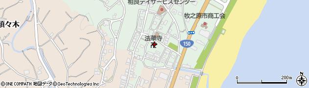 法華寺周辺の地図