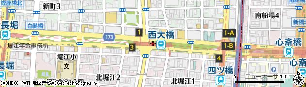 大阪府大阪市西区周辺の地図